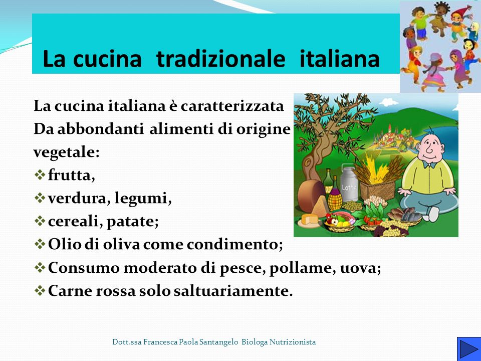 La cucina tradizionale italiana