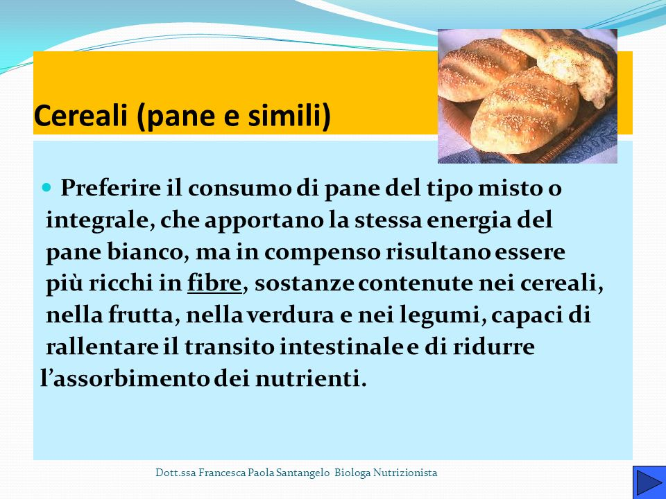 Cereali (pane e simili)