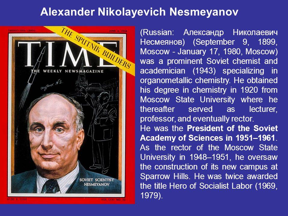 Alexander Nikolayevich Nesmeyanov