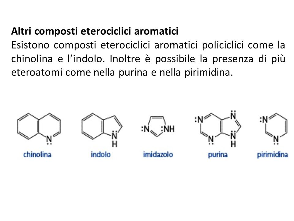 Altri composti eterociclici aromatici