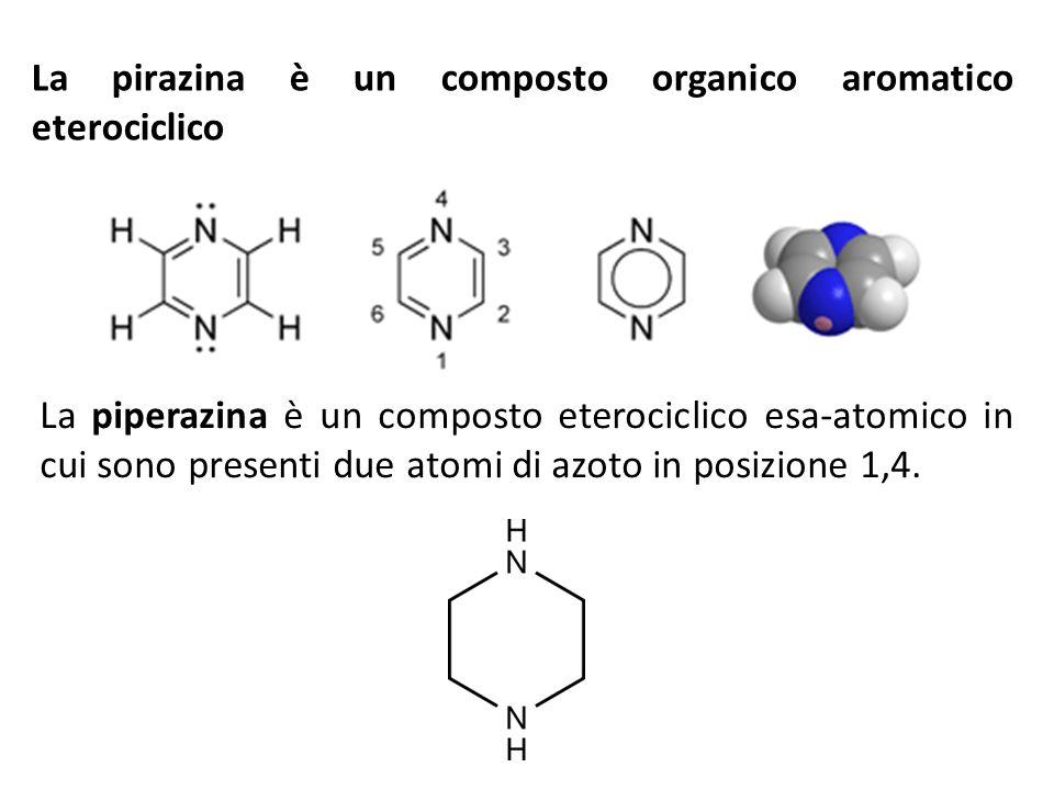La pirazina è un composto organico aromatico eterociclico