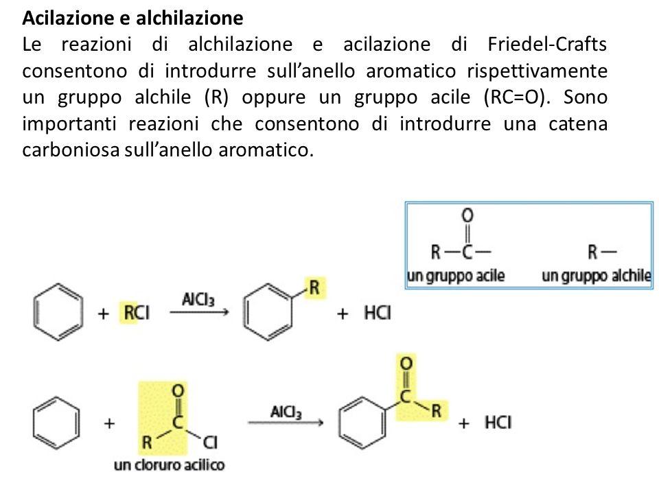 Acilazione e alchilazione
