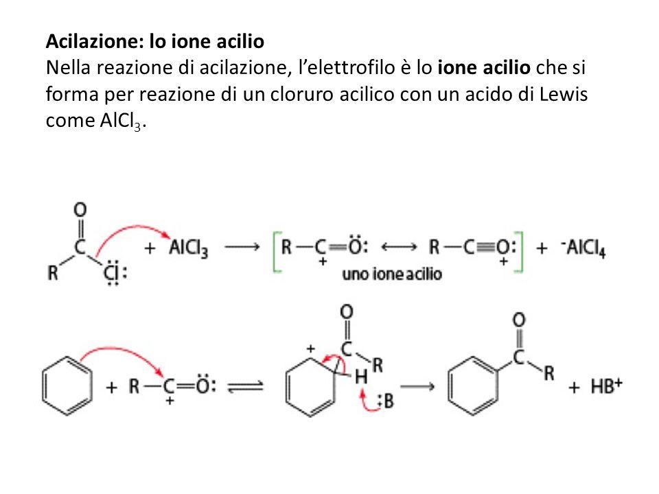 Acilazione: lo ione acilio