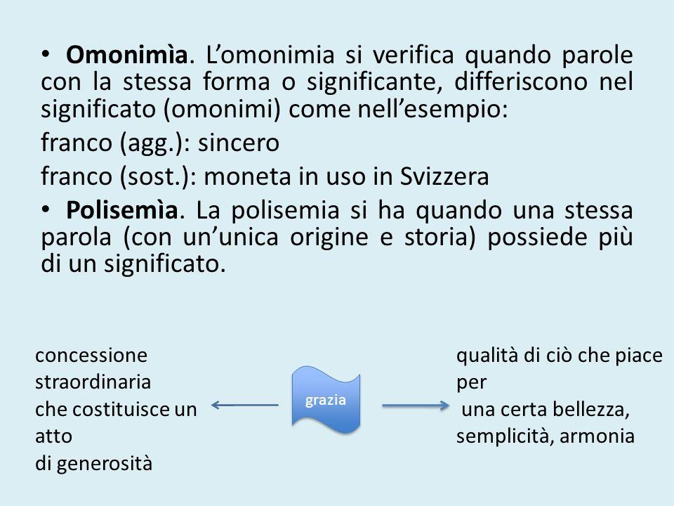 franco (sost.): moneta in uso in Svizzera