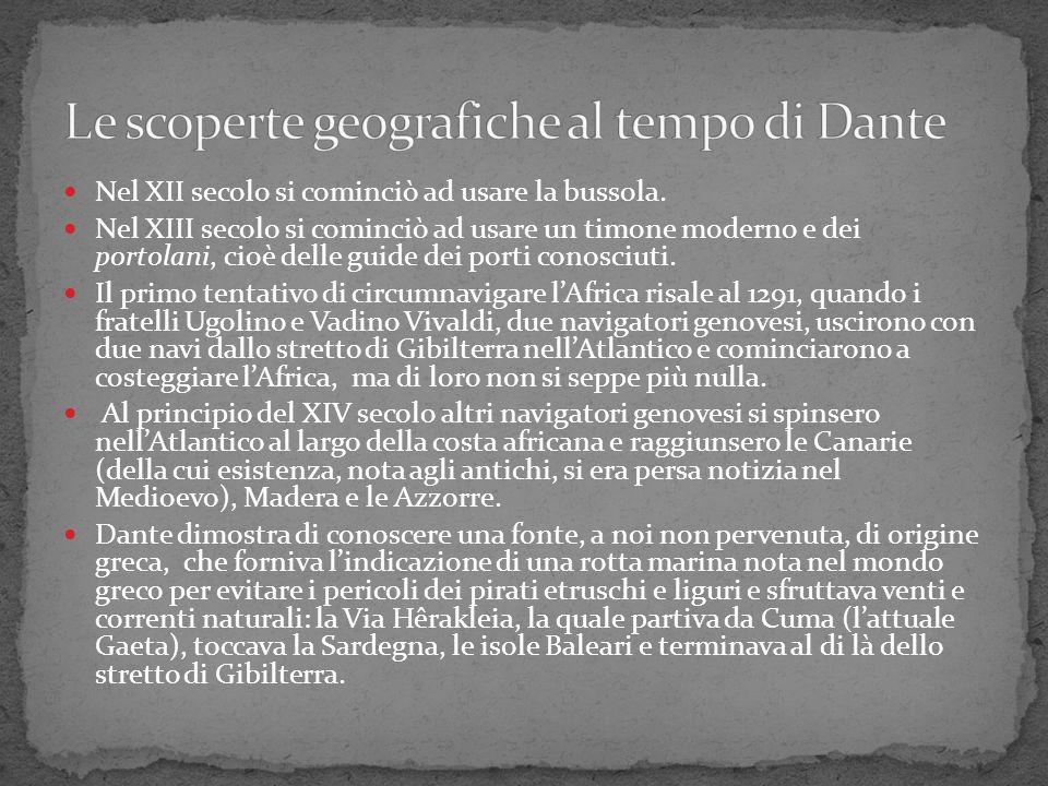 Le scoperte geografiche al tempo di Dante