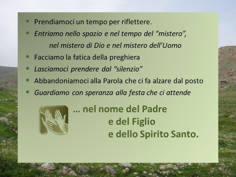 … nel nome del Padre e del Figlio e dello Spirito Santo.