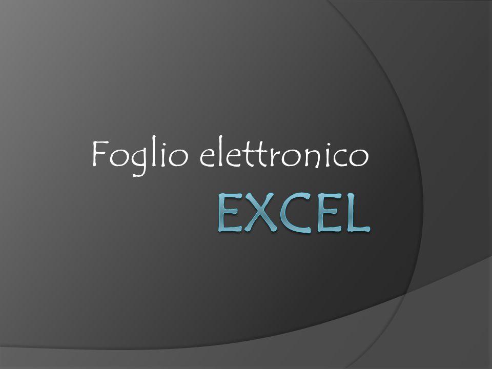 Foglio elettronico Excel