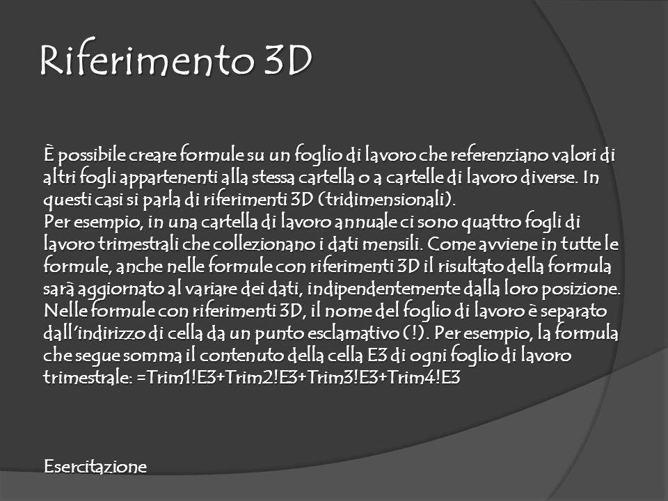 Riferimento 3D