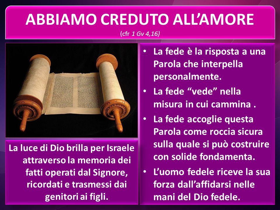 ABBIAMO CREDUTO ALL'AMORE (cfr 1 Gv 4,16)
