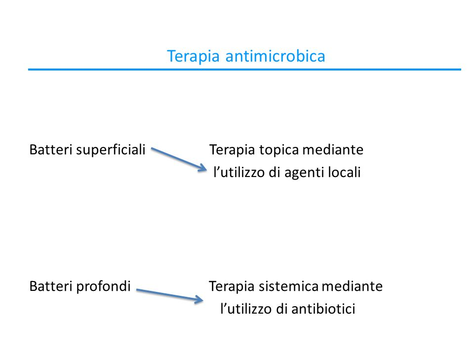 Terapia antimicrobica