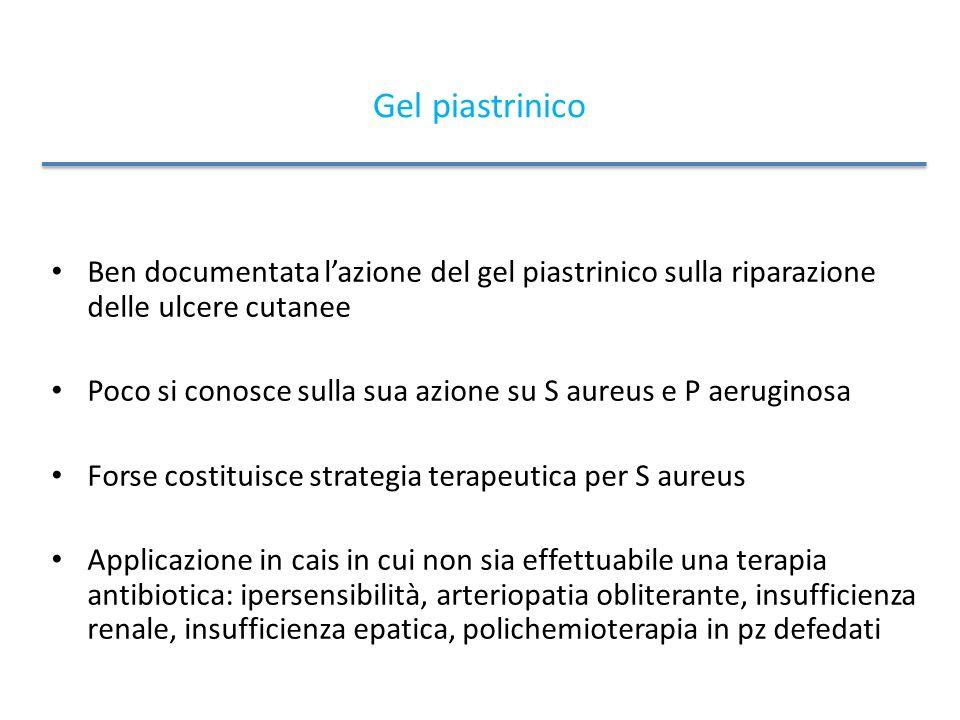 Gel piastrinico Ben documentata l'azione del gel piastrinico sulla riparazione delle ulcere cutanee.