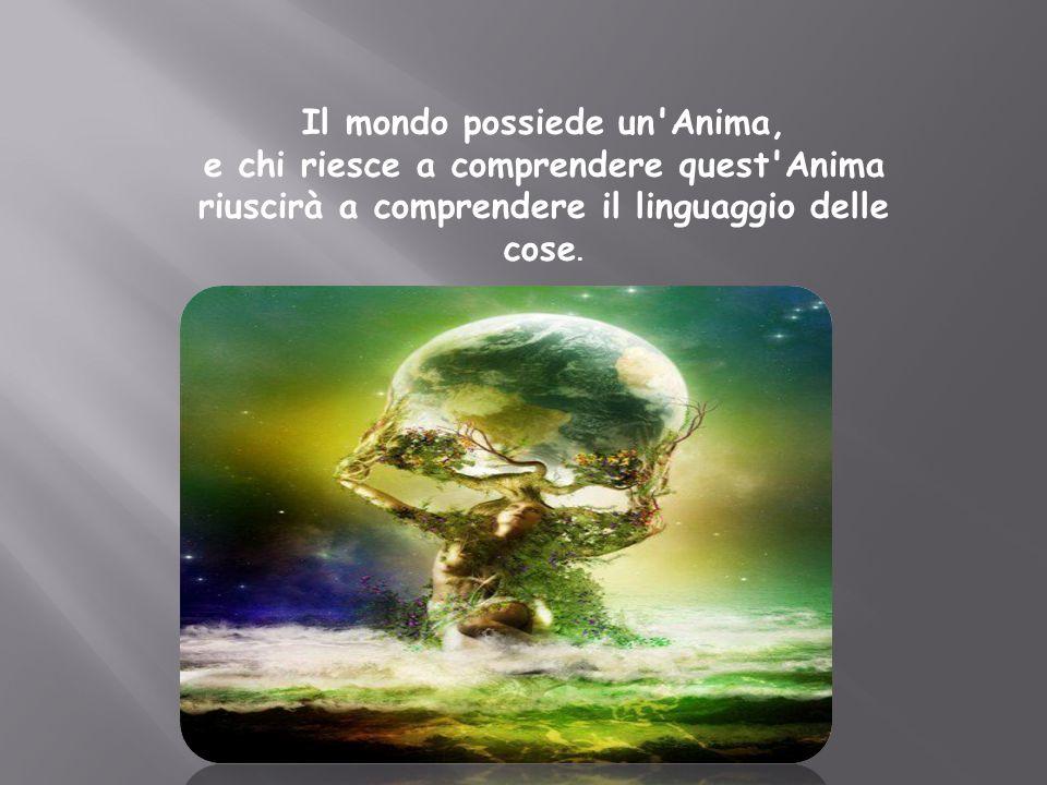 Il mondo possiede un Anima, e chi riesce a comprendere quest Anima