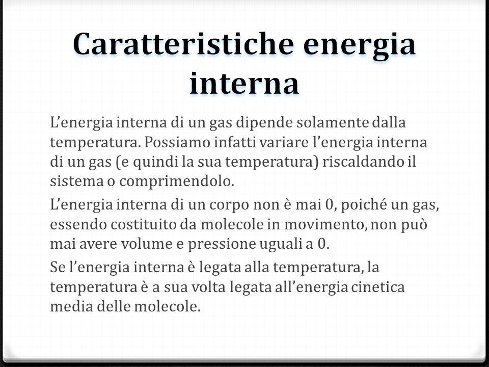 Caratteristiche energia interna