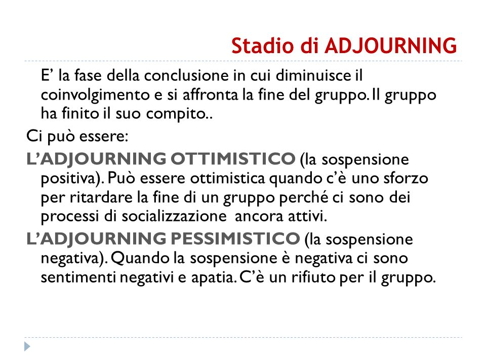 Stadio di ADJOURNING