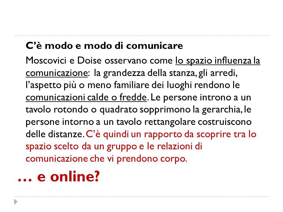 … e online C'è modo e modo di comunicare