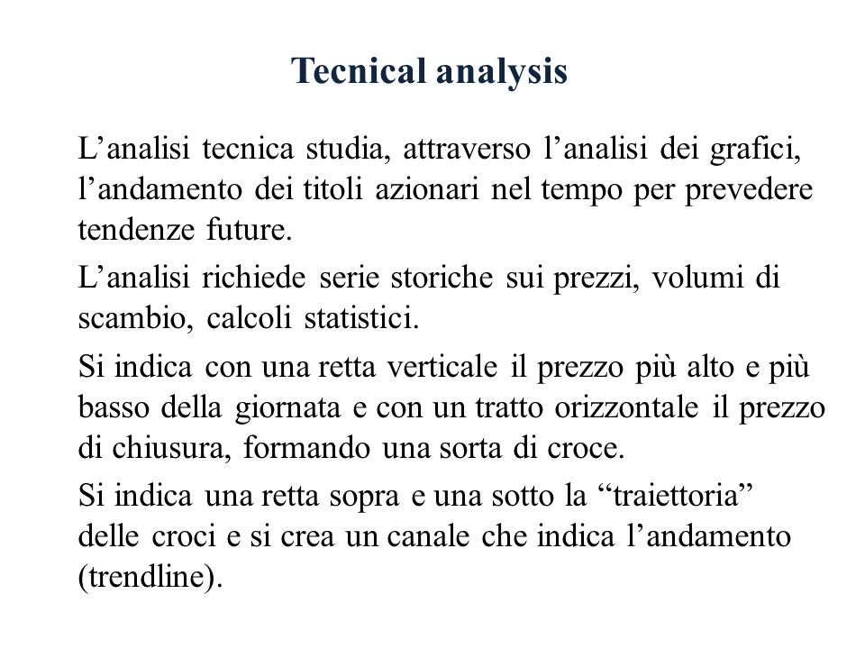 Tecnical analysis