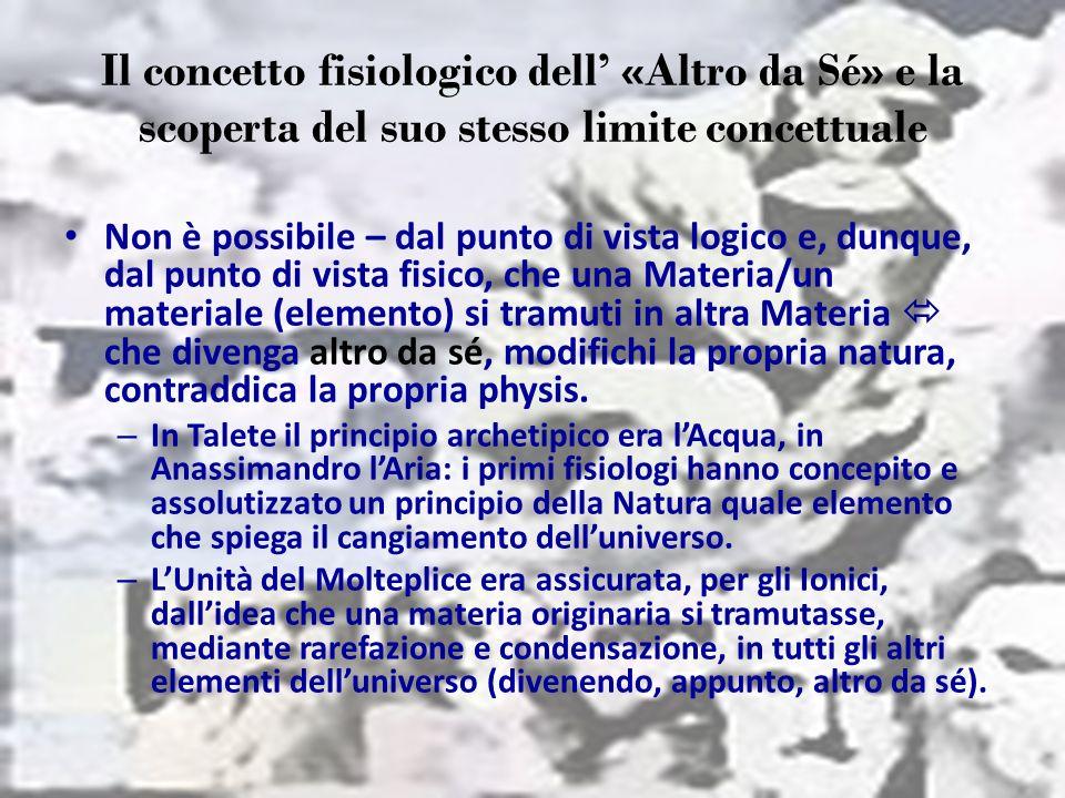 Il concetto fisiologico dell' «Altro da Sé» e la scoperta del suo stesso limite concettuale