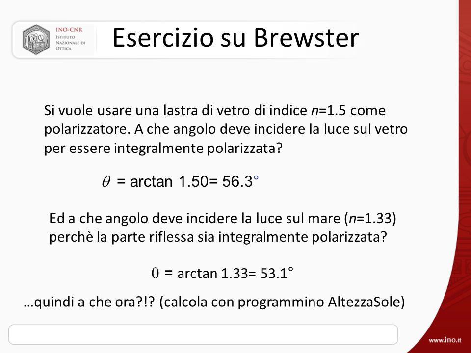 Esercizio su Brewster