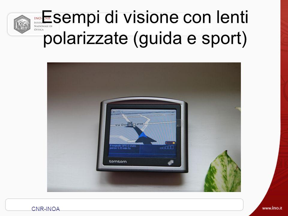 Esempi di visione con lenti polarizzate (guida e sport)
