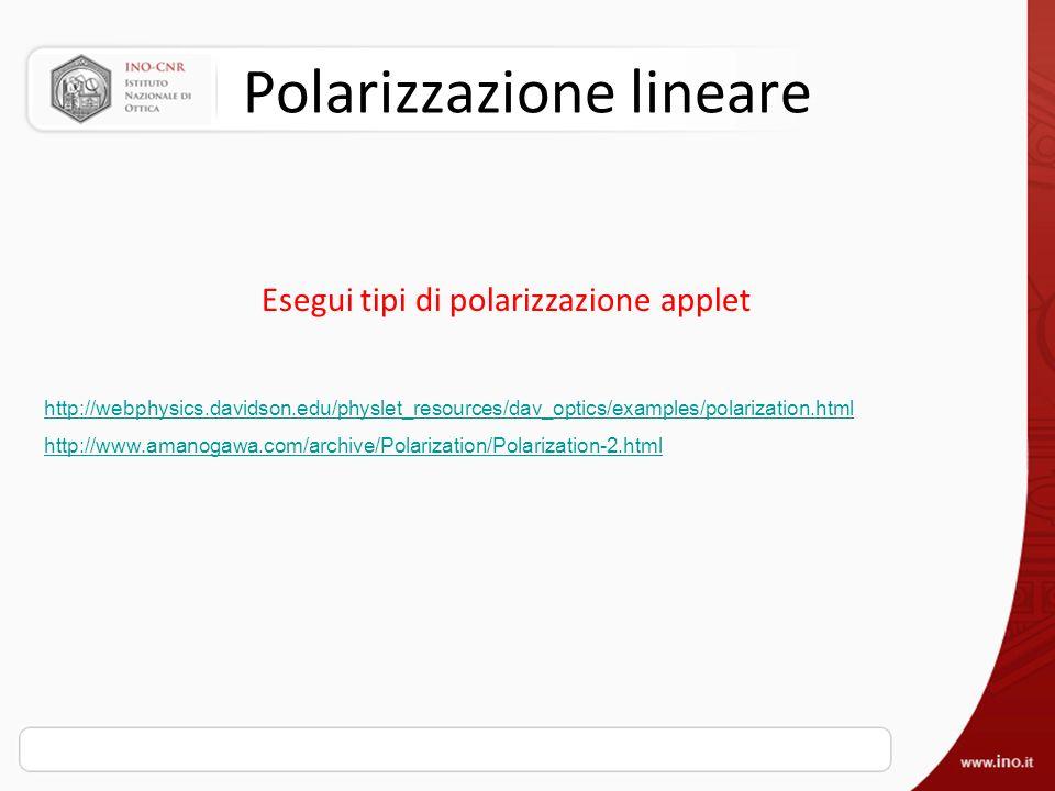 Polarizzazione lineare
