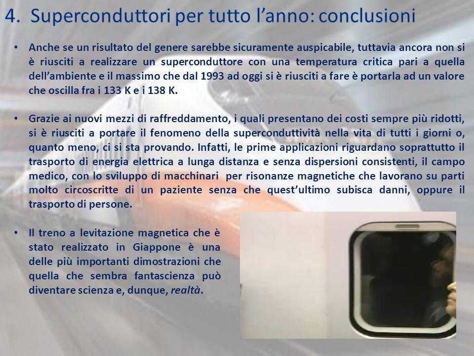 4. Superconduttori per tutto l'anno: conclusioni