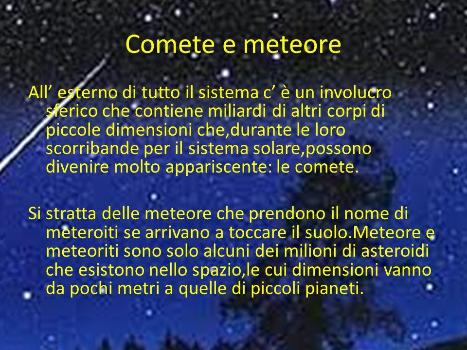 Comete e meteore