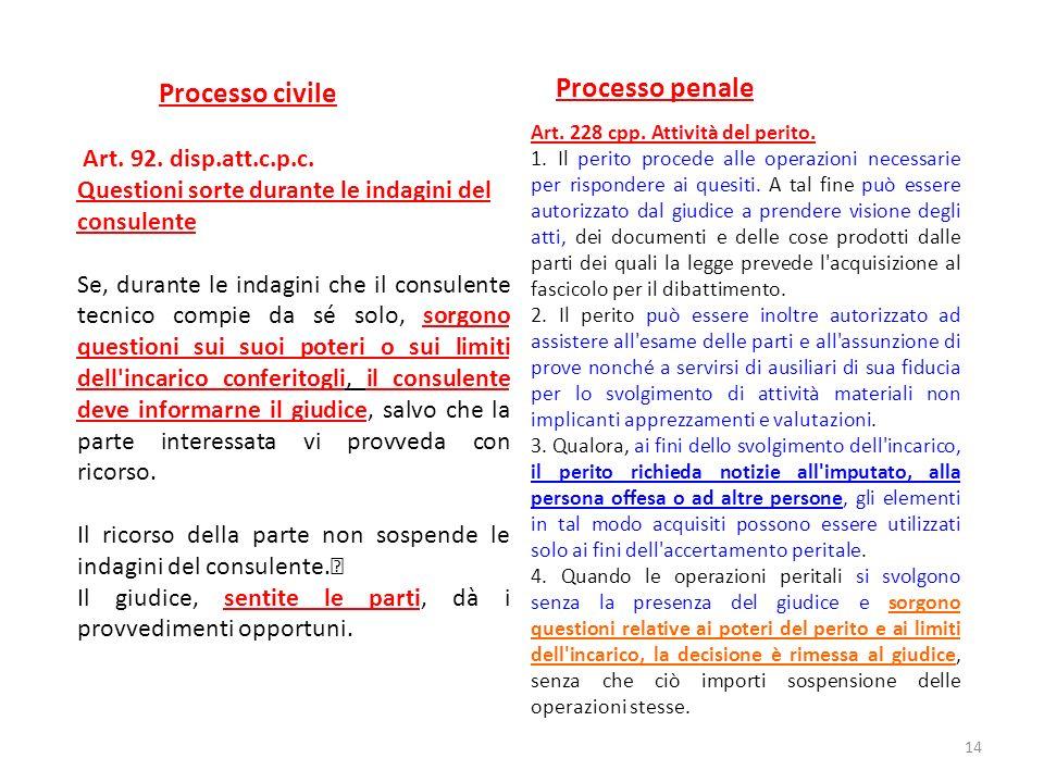 Processo penale Processo civile Art. 92. disp.att.c.p.c.