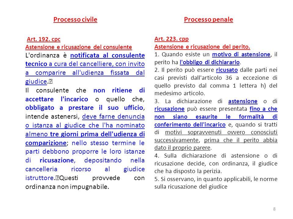 Processo civile Processo penale