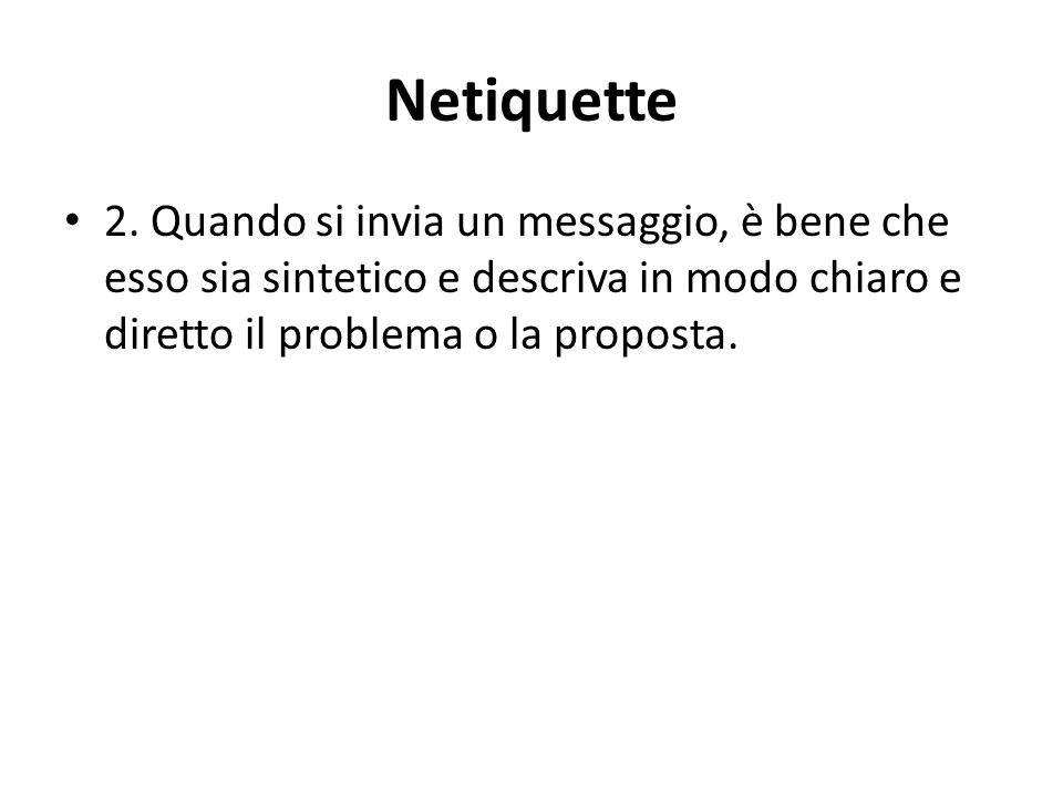 Netiquette 2.