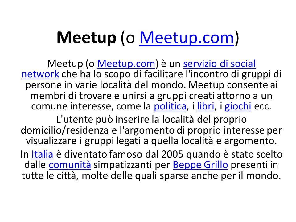 Meetup (o Meetup.com)
