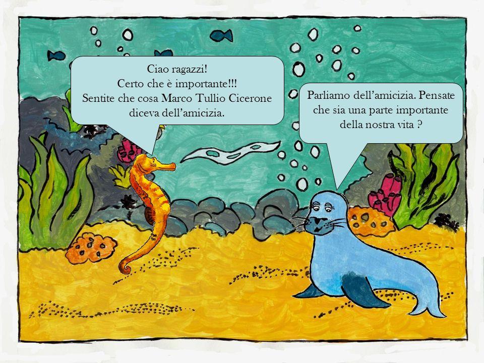 Ciao ragazzi! Certo che è importante!!! Sentite che cosa Marco Tullio Cicerone diceva dell'amicizia.
