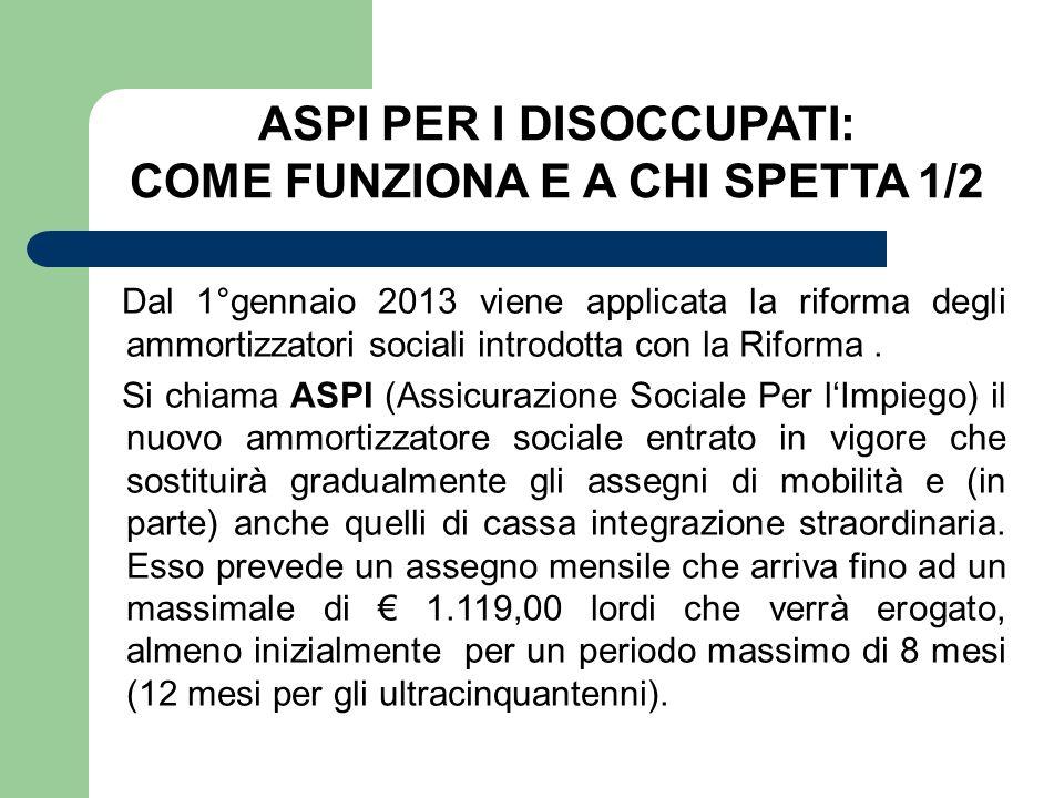 ASPI PER I DISOCCUPATI: COME FUNZIONA E A CHI SPETTA 1/2