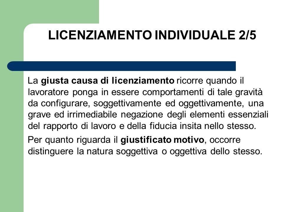 LICENZIAMENTO INDIVIDUALE 2/5