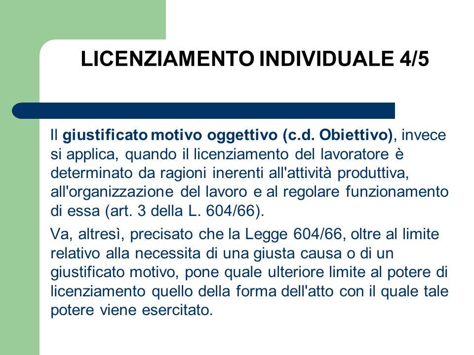 LICENZIAMENTO INDIVIDUALE 4/5