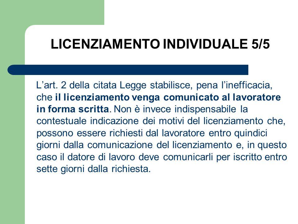 LICENZIAMENTO INDIVIDUALE 5/5