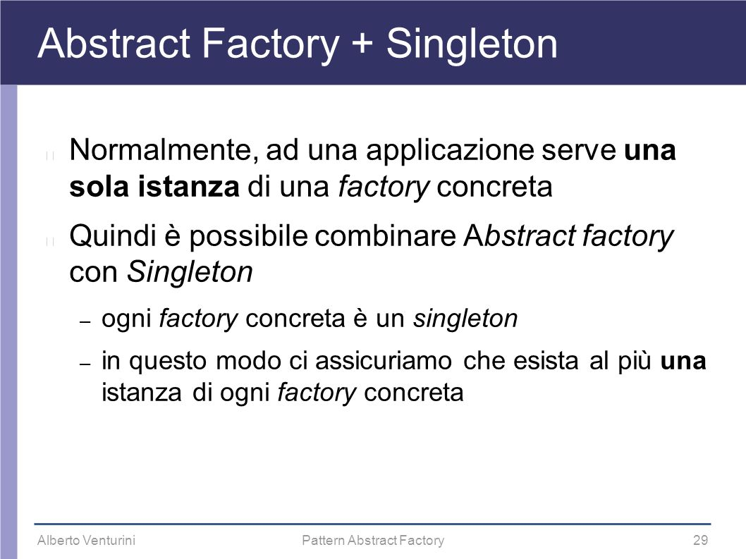 Abstract Factory + Singleton
