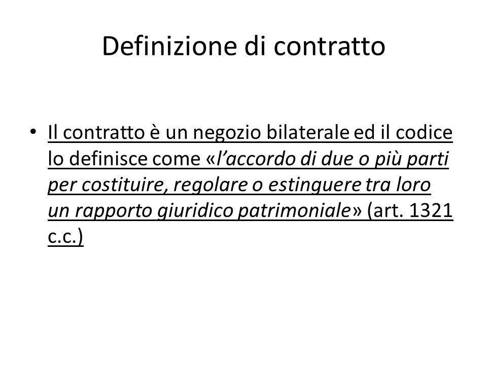 Definizione di contratto