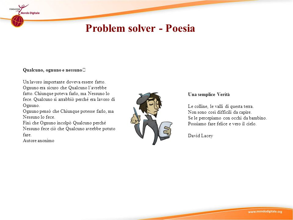 Problem solver - Poesia
