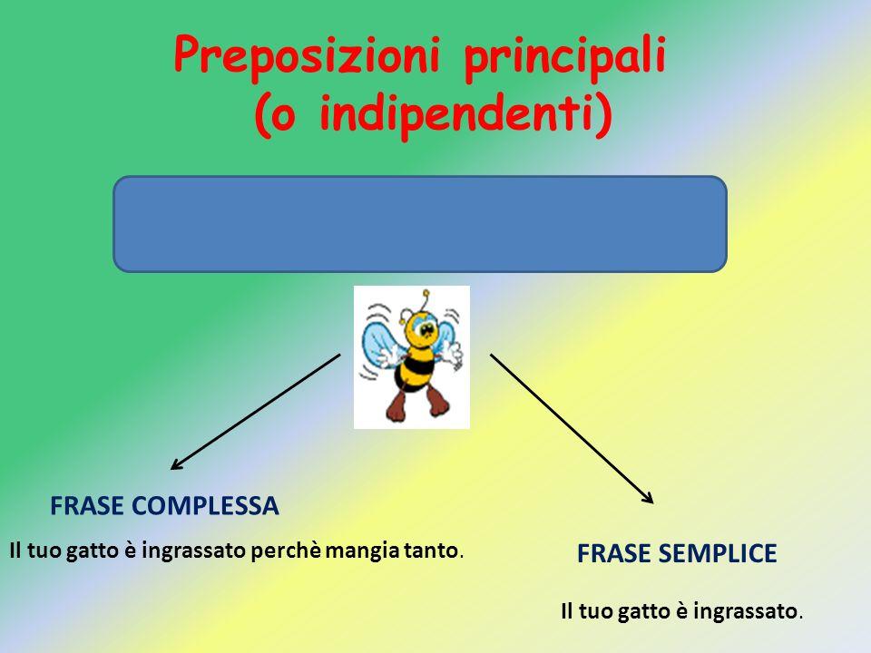 Preposizioni principali (o indipendenti)