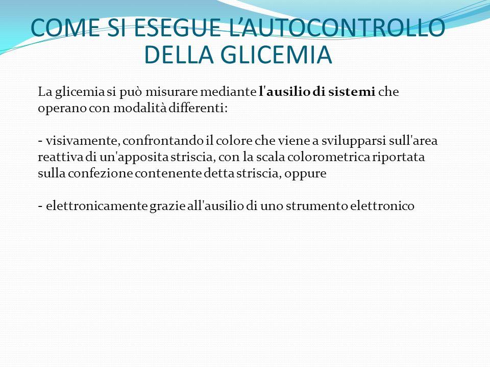 COME SI ESEGUE L'AUTOCONTROLLO DELLA GLICEMIA