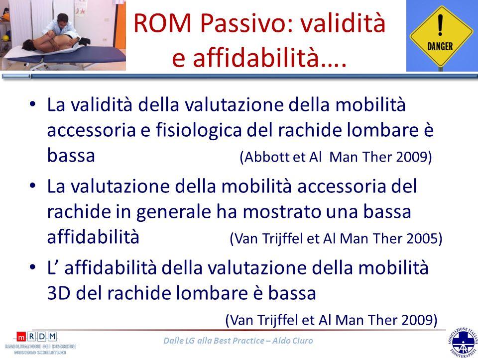 ROM Passivo: validità e affidabilità….