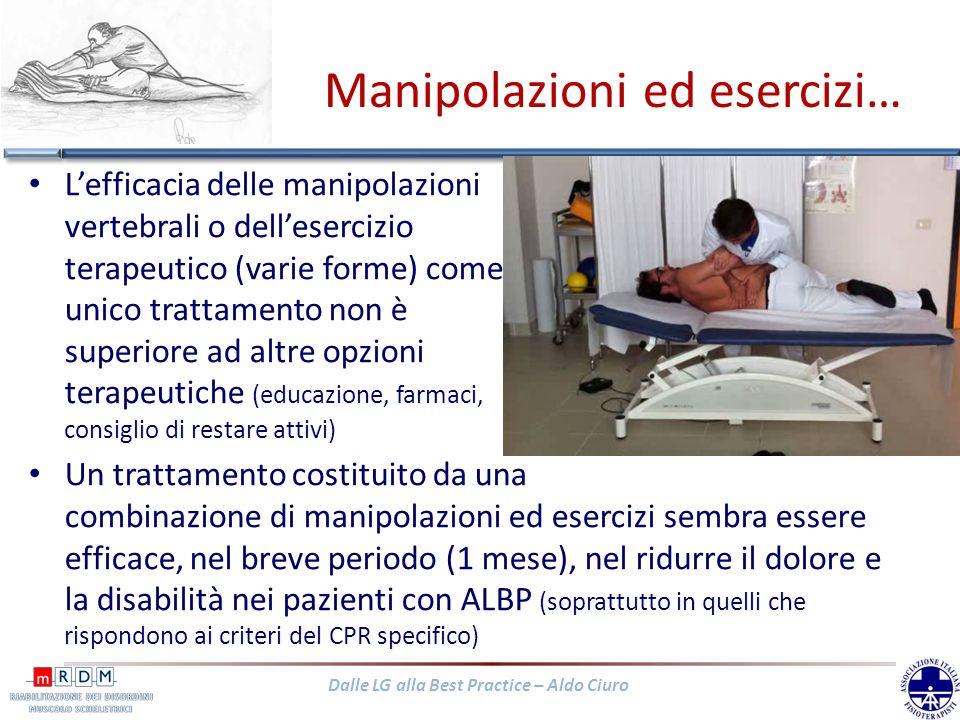 Manipolazioni ed esercizi…