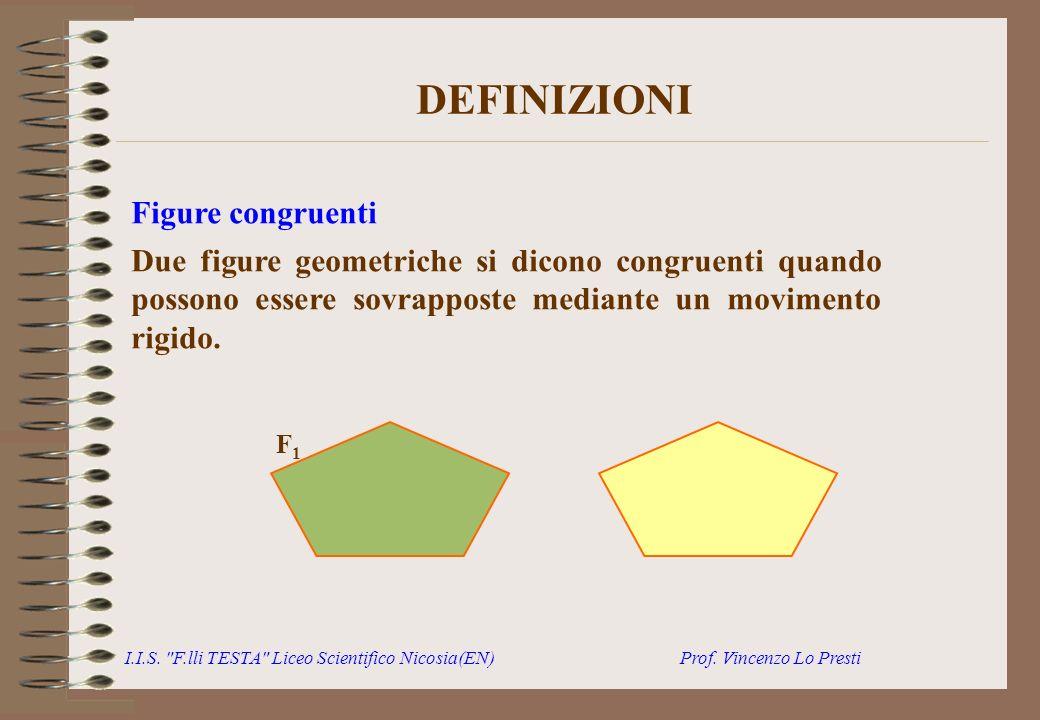 DEFINIZIONI Figure congruenti