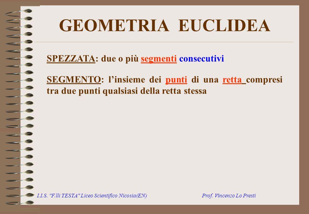 GEOMETRIA EUCLIDEA SPEZZATA: due o più segmenti consecutivi