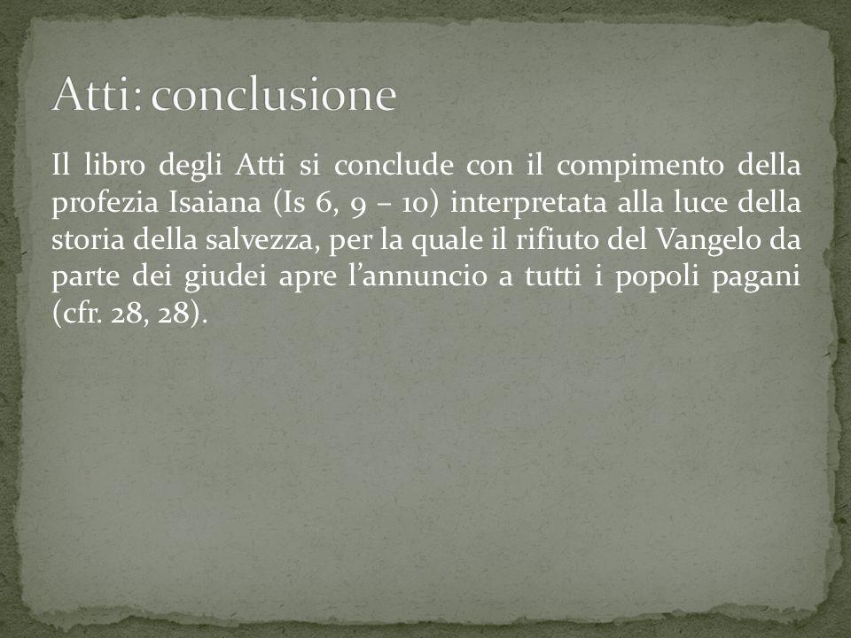 Atti: conclusione