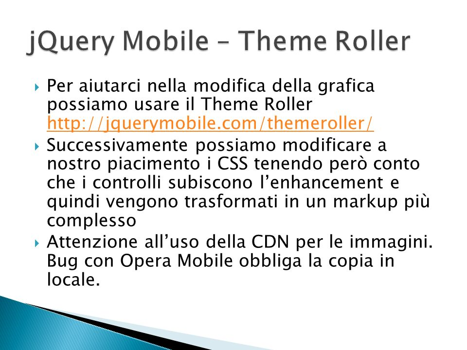 jQuery Mobile – Theme Roller