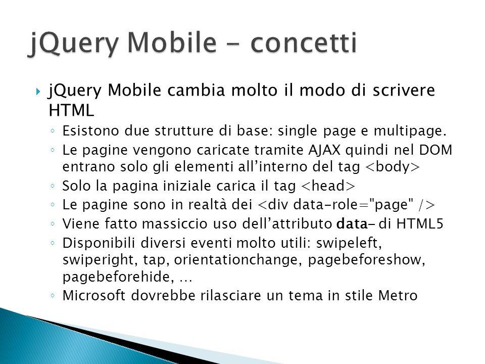 jQuery Mobile - concetti