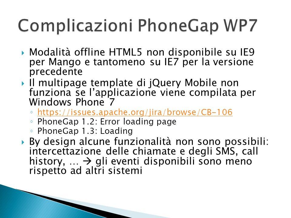 Complicazioni PhoneGap WP7