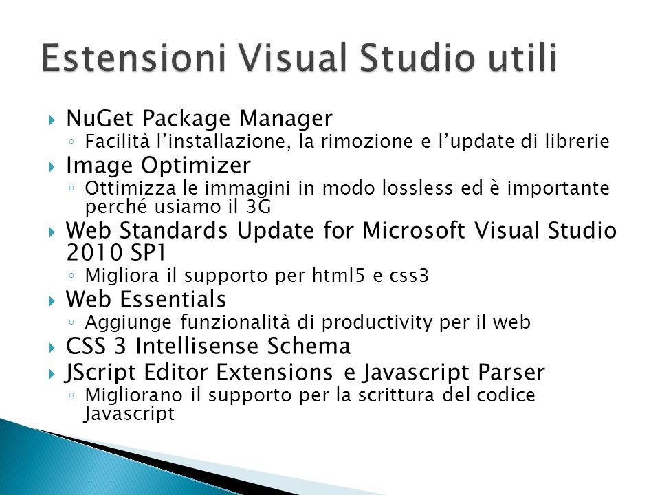 Estensioni Visual Studio utili
