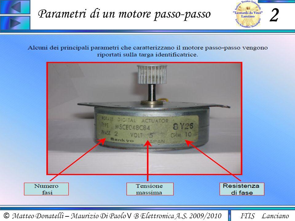 Parametri di un motore passo-passo